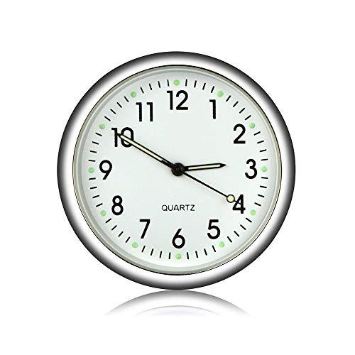 MOGOI Auto Armaturenbrett Uhr, Universal Auto Air Vent Quarz Uhr Automobile Innendekoration Stick-On Uhr Ornamente Für Büro Autos SUV MPV.
