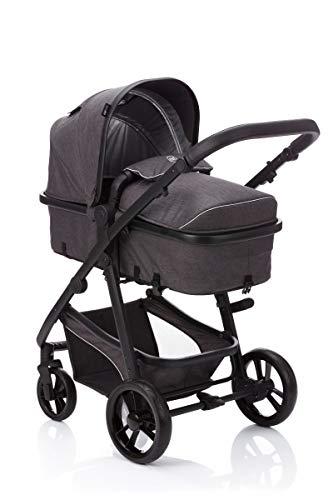 Fillikid fill Kinderwagen-Set Panther mit Babyschale | Multi Kinderwagen/Kombikinderwagen 3in1 mit Buggy & Babyschale, Design:dunkelgrau
