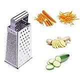 Rallador de queso, rallador de limón, cortador de verduras, rallador de frutas, rallador cuadrado de acero inoxidable,...