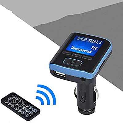 Bullker Car Kit Bluetooth Handsfree FM Transmitter USB Charger LCD Display MP3 Player