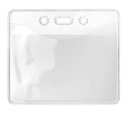 10 x Karteo® Din A7 Ausweishüllen | Kartenhüllen transparent | Ausweishülle (74 x 105 mm) | Kartenhülle horizontal | Kartenhalter aus Vinyl