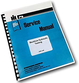 International 3500 Ser.A Loader Tractor Backhoe Hydraulic Testing Service Manual