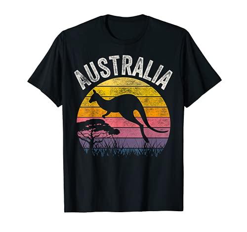 Australia Day Shirt Funny Australian Kangaroo Vintage Gift T-Shirt