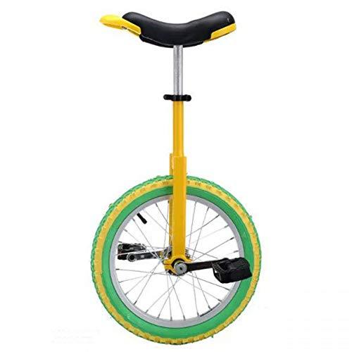 HWF Monociclo 16/18 Pulgadas Monociclo para Niños/Niñas/Mayores de 10 Años, Monociclo de 20 Pulgadas para Adultos, Monociclo Exterior Ajustable con Llanta de Aleación (Size : 18 Inch Wheel)
