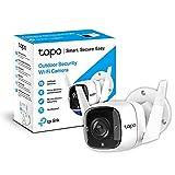 TP-Link TAPO C310 - Camara Vigilancia WiFi Exterior Interior,Resolución 3MP, IP66 con Visión Nocturna, Detección de Movimiento y Alarma Instantánea, Control con App IOS, Android, Compatible con Alexa