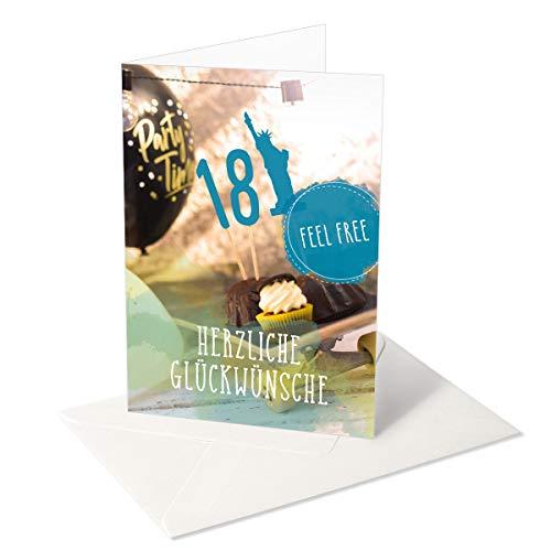 Ich wünsch Dir was/Grußkarte/Glückwunschkarte zum 18. Geburtstag Junge/Partyzubehör