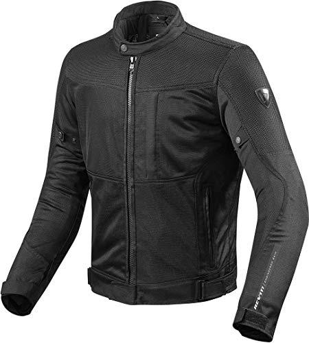 REV'IT! Motorradjacke mit Protektoren Motorrad Jacke Vigor Textiljacke schwarz 4XL, Herren, Tourer, Ganzjährig