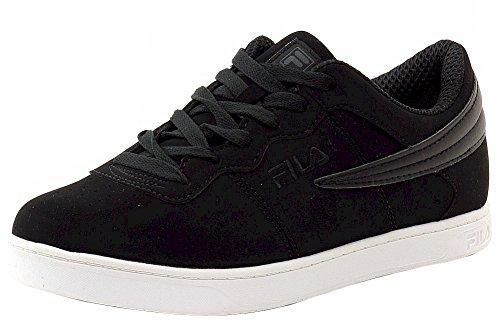 Fila Men's Court 13 Low Black/White/Dark Shale Suede Sneakers Shoes Sz: 10.5