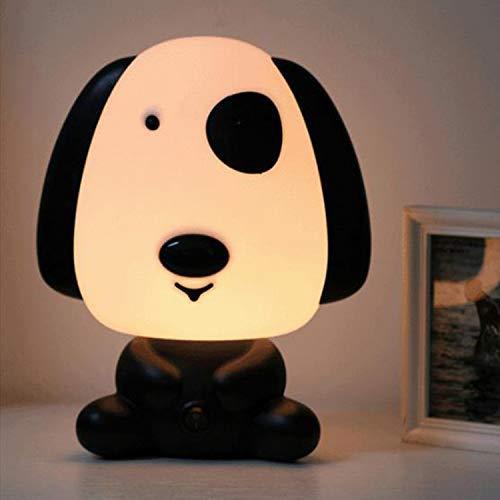 Lampara buenas noches Perrito (basset hound). Luz cálida para dormir mejor o leer un libro con los niños. Luz nocturna infantil. Lámpara pequeña para mesita de noche o estantería, 24 cm de altura.