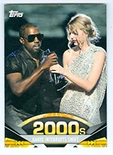 Kanye West and Taylor Swift trading card (2009 MTV VMA) 2011 Topps #196
