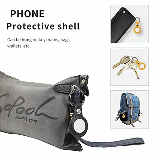 youfenghui 5 Pezzi / 1 Set per Custodia Apple Air_Tags, Custodia Protettiva in Pelle, con Tracker Portachiavi Air_Tags, Custodia in Pelle per Air_Tags, Sicurezza E Anti-smarrimento