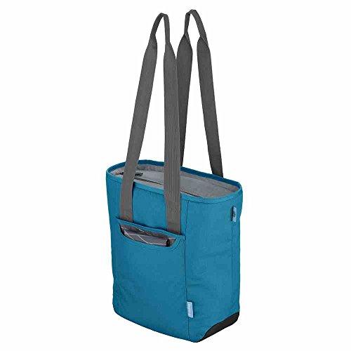 alfi Thermo-Kühltasche, isoBag klein 13 Liter - Isolierte Einkaufstasche aus Polyester, türkis-blau 34 x 13 x 35 cm - 2in1, Isoliertasche inkl. extra Tragetasche - 0007.253.811