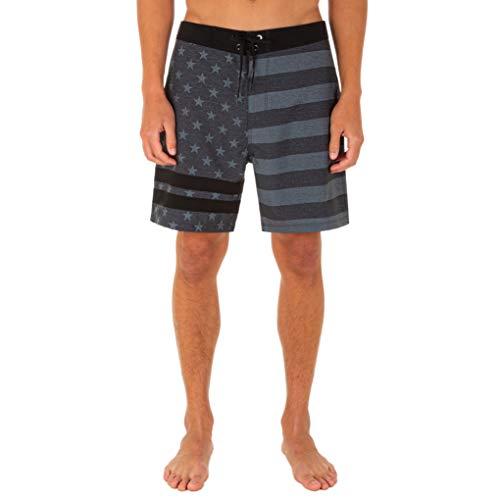 "Hurley Men's Block Party 2.0 Freedom 18"" Board Shorts, Black, 38"