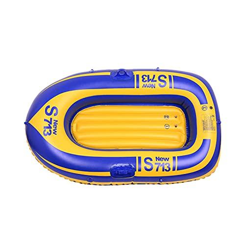 primrosely Barco de goma material del PVC, barco inflable de alta densidad hermético engrosado para 1 persona deportes acuáticos Kayak serie