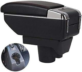 TWOBEE Auto Armlehne, 7 USB Doppelter Aufstieg Mittelkonsole Aufbewahrungsbox Mit Aschenbecher und Getränkehalter