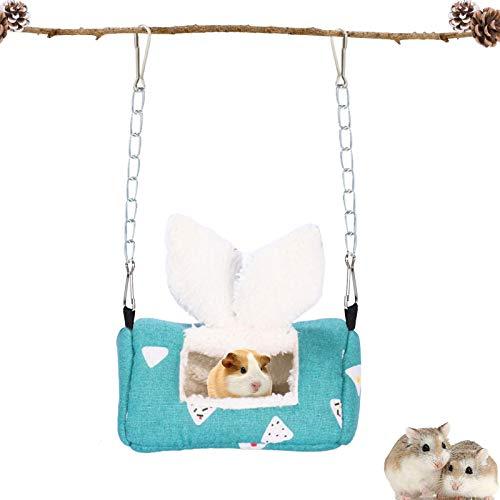 Tierbett ,Kleine Tier Haus Nest,kleintierbett hamster,Haustier Bett,Warm Plüsch Kuschelhöhle ,Hamster Bett,Haustier Decke Für Chinchillas/Meerschweinchen/Ratten/Papageien/Hamster/ichhörnchen(Grün)