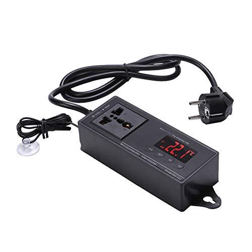 Hffheer Termostato para Reptiles Digitales Controlador de Temperatura para acuarios Pantalla LED Termostato para Calor frío Terrario Controlador para termostato de Calor frío (1#)