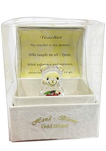 Cajita regalo con osito de cristal y poema especial de agradecimiento al...
