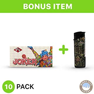 Joker Rolling Papers - 1 1/2 (10) with LED Lighter