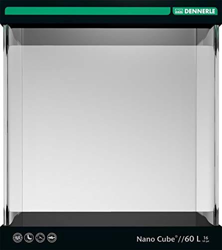 Dennerle Nano Cube 60 Liter - Mini Aquarium mit Abgerundeter Frontscheibe