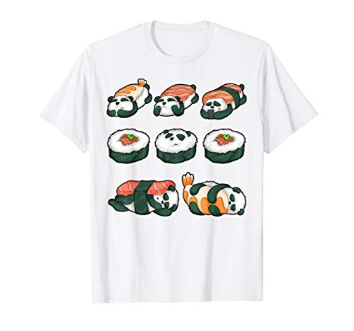 Panda Sushi Hug Shirt Cute Animal Maki Lover Funny Food Gift