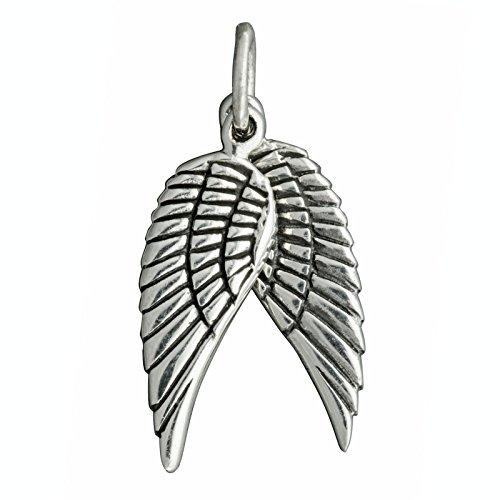 Beldiamo Pendentif ailes d'ange en argent sterling 925 avec poinçon 3,5 g