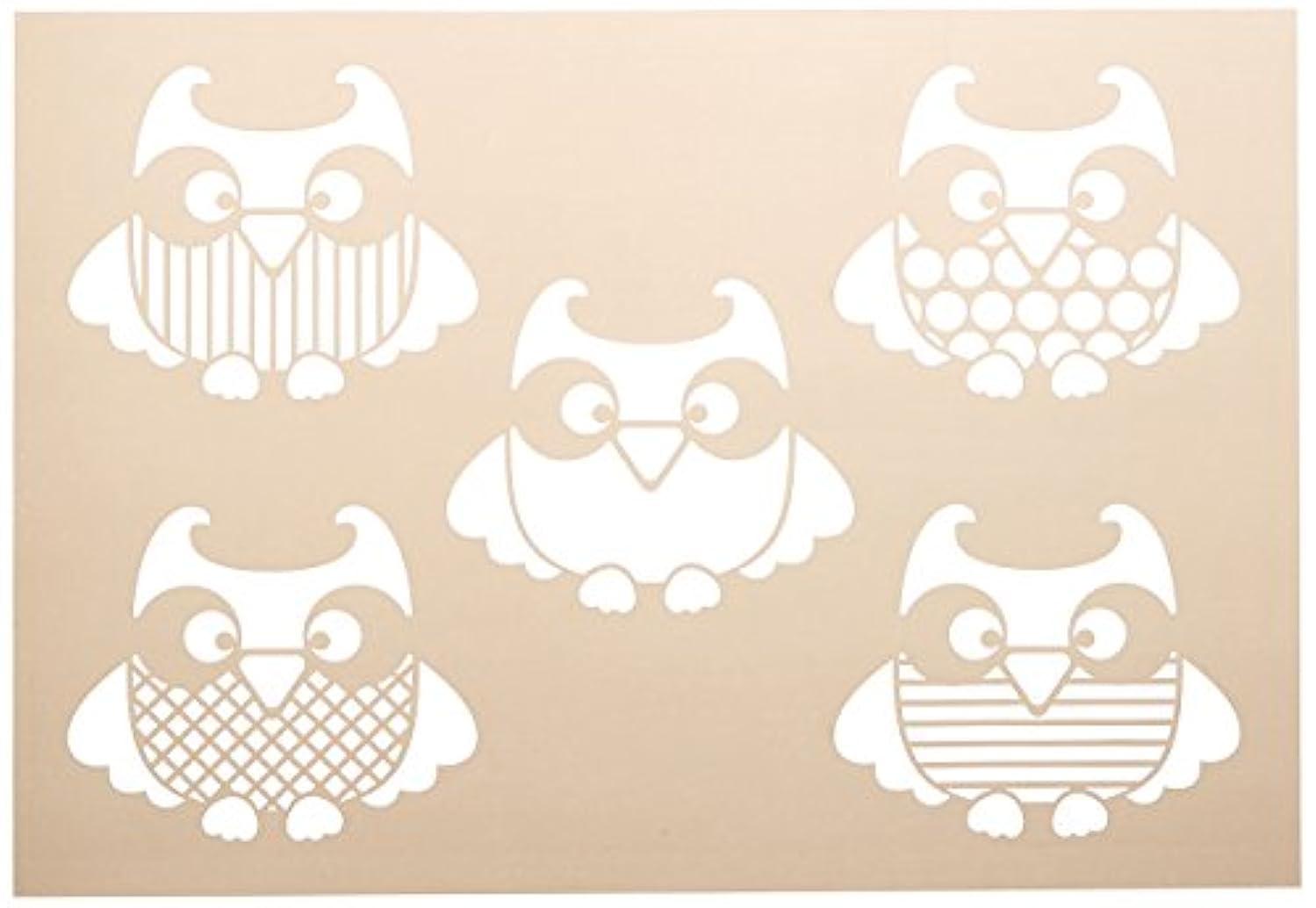 Artemio 15050001 Stencil A4 Owls