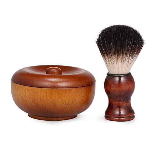 Moligh doll Wood Shaving Bowl Barber Beard Razor Cup for Shave Brush Male Face Cleaning Soap Mug Tool for