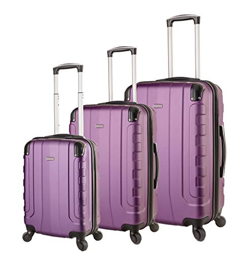 A light weight purple luggage set - slightly smaller than the others but no less up to the task