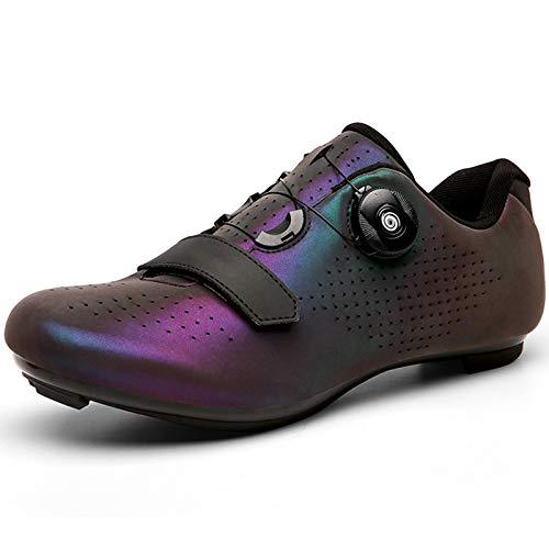 YQSHOES Zapatillas Ciclismo Carretera para Hombre Compatibles con Zapatillas Spinning SPD Delta Cycling,Colorful b,41EU/8UK/8.5US