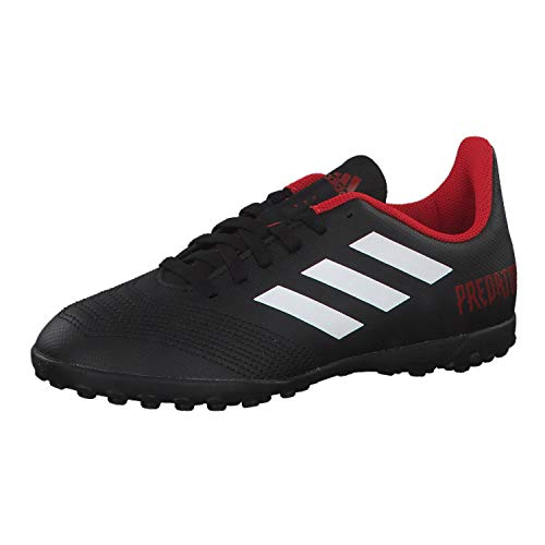 Adidas Predator Tango 18.4 TF J, Botas de fútbol Niños Unisex niño, Negro (Negbás/Ftwbla/Rojo 001), 34 EU