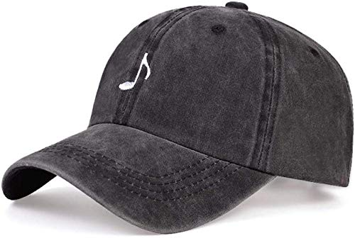Sports Cap/Baseball Cap/Sunhats Cotton Daddy Hat Street Dance Hat Music Embroidery Outdoor Sun Hat Dark Gray