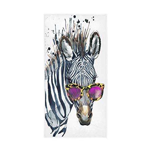 WowPrint Funny Animal Zebra Handtuch Quick Dry Handtücher für Sport Gym Yoga Strand Bad Wandern Schwimmen Dusche Reise 76 x 38 cm