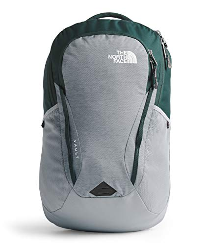 The North Face Women's Vault Backpack, Mid Grey Light Heather/Ponderosa Green, One Size