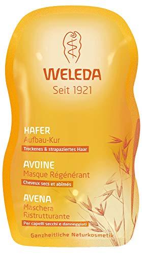WELEDA Hafer Aufbau-Kur, intensive Haarpflege für strapaziertes und trockenes Haar, die Spülung kräftigt, nährt und schützt und baut das Haar auf (1 x 20 ml Sachet)