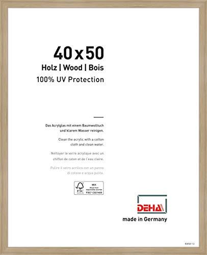 DEHA Holz Bilderrahmen Fontana, 40x50 cm, Eiche