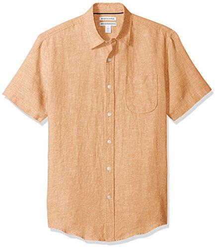 Amazon Essentials - Camisa de lino a rayas