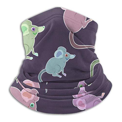 Lzz-Shop Dieren muizen cartoon huisdier zaagdier knaagdier halsverwarmer - haarbanden sjaal hoofdwikkeling, hals gamas pijp vissen, gezicht sport sjaal