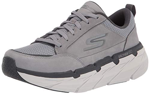 Skechers mens Max Cushioning Premier: Selected - Performance and Walking Running Shoe, Charcoal, 9.5 Wide US