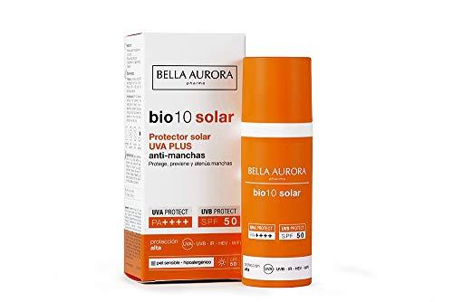 Bella Aurora crema protector solar UVA Plus anti-manchas SPF 50 hipoalergénico piel sensible 50 ml