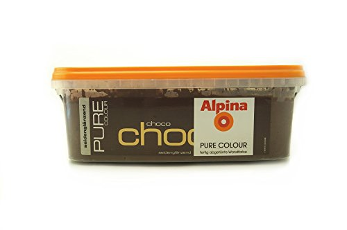 Alpina Pure Colour Wandfarbe seidenglänzend 2,5 l (Choco)