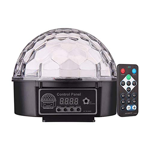 AABBC Luces de Fiesta activadas por Sonido con Control Remoto Iluminación de DJ RBG Disco Ball Lámpara estroboscópica Par Light para Home Room Fiestas de Baile Cumpleaños DJ Bar Karaoke Navidad We