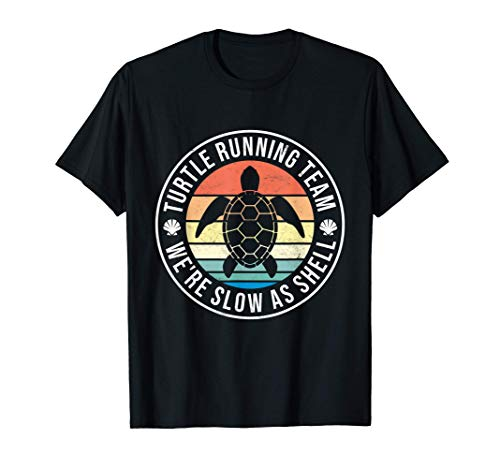 Slow Runner Vintage Marathon Turtle Running Team Run Workout Camiseta