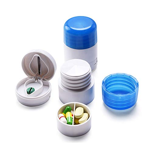 Folca Portable Medicine Cutter Grinder Divider Box Crusher,Pill Cutter for Small or Larger Pills, Accurate Pill Splitter Medication Crusher Pulverizer Grinder Slicer Breaker for Pets and Dogs