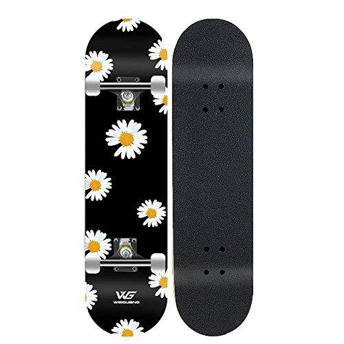 LONGXJA Skateboard débutant, Skateboard Pro Complet, Skateboard à Double Inclinaison en érable, Skateboard pour garçons et Filles-A2_31 Pouces