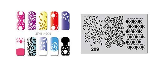 Pochoir nail art Aérographe JFH011-209
