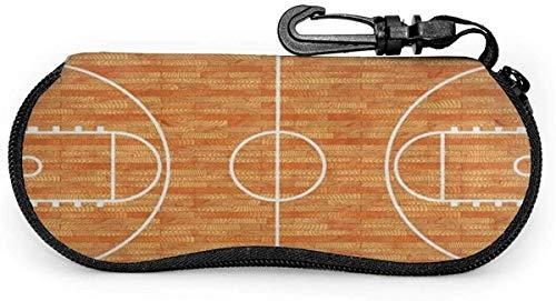 ドラゴン Eyeglasses Case Sport Lover Basketball Court Parquet Spectacle Case Box Scratch resisted Portable Sunglasses Holder With Hook Clip