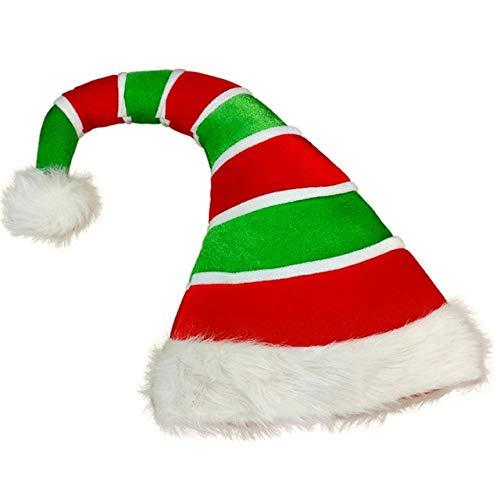 Christmas Hat Plush Elf Santa Hat Ornament Decoration Christmas cap hats New Year Xmas Party Props Decoration-a12