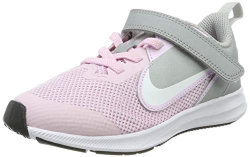 Nike Unisex-Kinder Downshifter 9 (PSV) Laufschuhe, Pink (Pink Foam/White-Metallic Silver 601), 32 EU