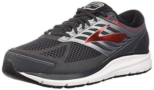 Brooks Men's Running Shoes, Grey Ebony Black Red 080, Womens 8